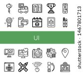 set of ui icons such as love ...