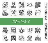 set of company icons such as mr ... | Shutterstock .eps vector #1467803213