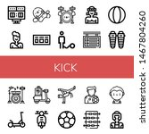 set of kick icons such as... | Shutterstock .eps vector #1467804260
