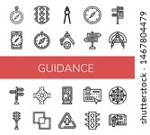 Set Of Guidance Icons Such As...