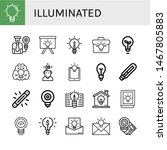 set of illuminated icons such... | Shutterstock .eps vector #1467805883