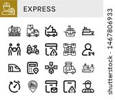 set of express icons such as... | Shutterstock .eps vector #1467806933