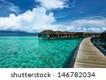 beautiful beach with water... | Shutterstock . vector #146782034
