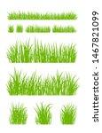 set of fresh green grass... | Shutterstock .eps vector #1467821099