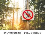 Round Road Sign Prohibiting The ...