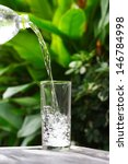 glass of water on nature... | Shutterstock . vector #146784998