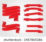 red glossy ribbon vector... | Shutterstock .eps vector #1467865286