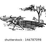 playful horse   retro clip art... | Shutterstock .eps vector #146787098