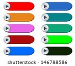 play glossy buttons. vector...   Shutterstock .eps vector #146788586