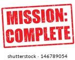 mission complete grunge rubber... | Shutterstock .eps vector #146789054