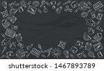 school background. blackboard... | Shutterstock .eps vector #1467893789