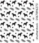 vector seamless pattern of flat ... | Shutterstock .eps vector #1467896273