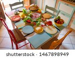 Colorful Breakfast Table Full...