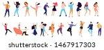 crowd of young people dancing... | Shutterstock .eps vector #1467917303