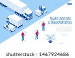 isometric mobile smart phone... | Shutterstock .eps vector #1467924686
