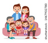 family gathering together... | Shutterstock .eps vector #1467932780