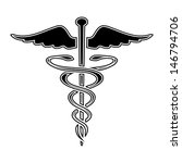 caduceus medical symbol vector... | Shutterstock .eps vector #146794706