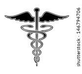 caduceus medical symbol vector...   Shutterstock .eps vector #146794706