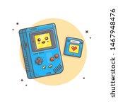 cute kawaii gameboy console... | Shutterstock .eps vector #1467948476