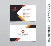 Modern Orange Bussines Card...