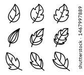 leaves icon set. leaf vector...   Shutterstock .eps vector #1467997889