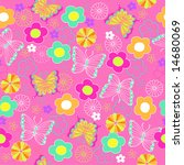 butterfly and flowers vector... | Shutterstock .eps vector #14680069