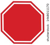 Sign Stop Black Board Icon