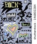doodles rock funny music | Shutterstock . vector #146802284