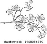 nature background with blossom... | Shutterstock .eps vector #1468056950
