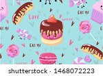 vector seamless summer  sweet... | Shutterstock .eps vector #1468072223