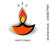 vector diwali lamp with lighting | Shutterstock .eps vector #146807984