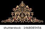 decorative elegant luxury... | Shutterstock . vector #1468085456