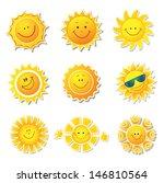 Sun Icons. Beautiful Elements...