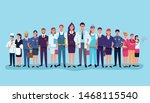 professional workers labor day... | Shutterstock .eps vector #1468115540