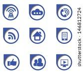 social media icon on white...