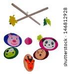 baby crib mobile | Shutterstock . vector #146812928
