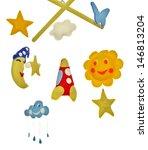 baby crib mobile | Shutterstock . vector #146813204