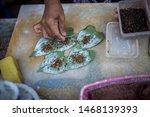 quids of betel nut for sale in...   Shutterstock . vector #1468139393