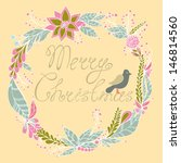 christmas greeting card. merry... | Shutterstock .eps vector #146814560