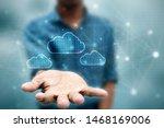 Stock photo  d illustration technology cloud computing 1468169006