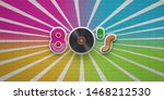 80s disco party on colorful... | Shutterstock . vector #1468212530
