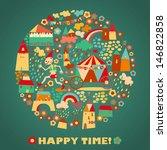 children's round background... | Shutterstock .eps vector #146822858