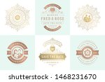 wedding invitations save the... | Shutterstock .eps vector #1468231670