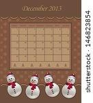 Calendar December Christmas...