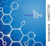Molecule Background.  Vector...