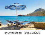 two sunbed on the beach anthony ... | Shutterstock . vector #146828228