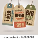 vintage style sale tags design | Shutterstock .eps vector #146828684