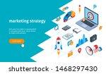 marketing strategy banner.... | Shutterstock .eps vector #1468297430