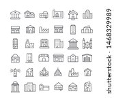 premium set of buildings line... | Shutterstock .eps vector #1468329989