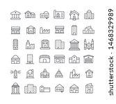 premium set of buildings line...   Shutterstock .eps vector #1468329989